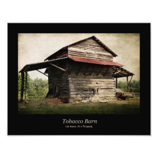Tobacco Barn Black Border Photo Print