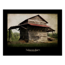 Tobacco Barn Black Border Poster