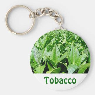 Tobacco field basic round button keychain
