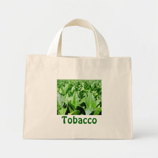 Tobacco field mini tote bag