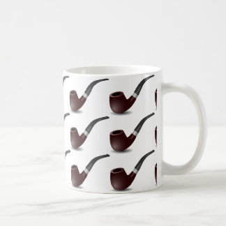 Tobacco pipe for smokers. White background. Coffee Mug