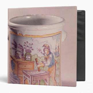 Tobacco pot depicting a tobacconist binders