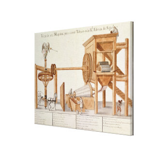 Tobacco Sieving Machine from the Royal Tobacco Canvas Print