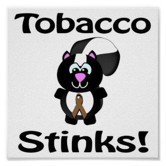 Tobacco Stinks Skunk Awareness Design Poster
