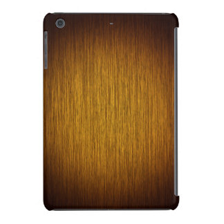 Tobacco Sunburst Grainy Wood Background iPad Mini Covers
