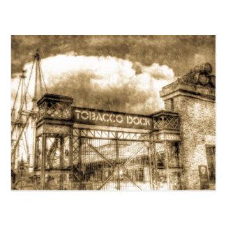 Tobaco Dock London Vintage Postcard