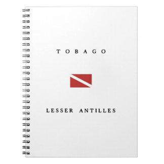 Tobago Lesser Antilles Scuba Dive Flag Spiral Note Books