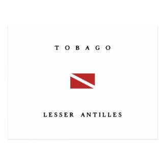 Tobago Lesser Antilles Scuba Dive Flag Postcard