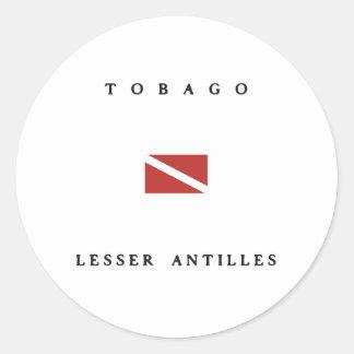 Tobago Lesser Antilles Scuba Dive Flag Stickers