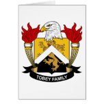 Tobey Family Crest Cards