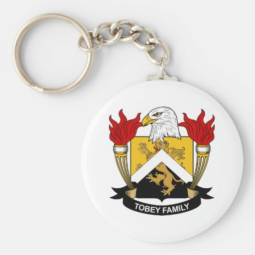 Tobey Family Crest Keychain