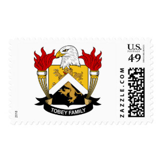 Tobey Family Crest Postage Stamp