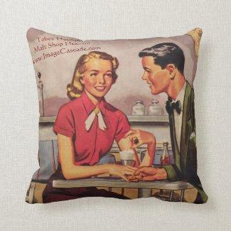 Tobey Heydon: 1950s Malt Shop Heaven! Throw Pillow