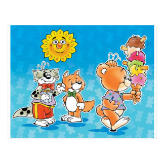 Tobi Teddy Bear and friends Postcard