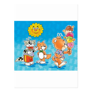 Tobi Teddy Bear and friends Postcards