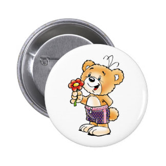 Tobi Teddy Bear  Just for You Pinback Buttons