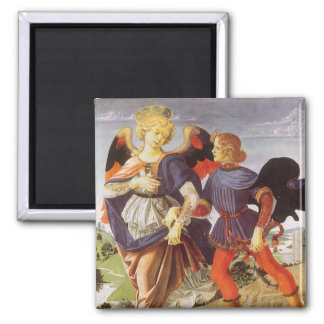 Tobias and the Angel by Andrea del Verrocchio Magnet