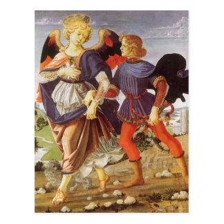 Tobias and the Angel by Andrea del Verrocchio Postcard