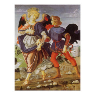 Tobias And The Angel By Andrea Del Verrocchio Poster