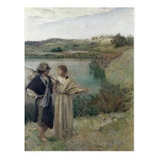 Tobias and the Archangel Raphael Postcard