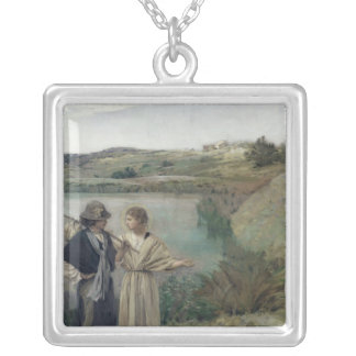 Tobias and the Archangel Raphael Silver Plated Necklace