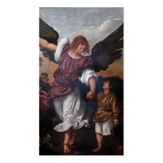 Tobias and the Archangel Raphael  - Titian Business Card