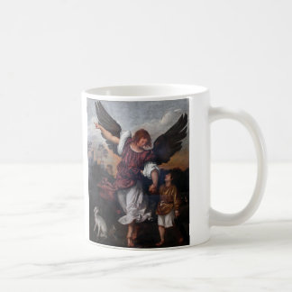 Tobias and the Archangel Raphael  - Titian Coffee Mug