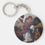 Tobias and the Archangel Raphael  - Titian Keychain