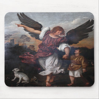 Tobias and the Archangel Raphael  - Titian Mouse Pads