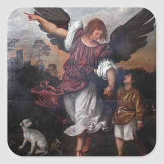 Tobias and the Archangel Raphael  - Titian Stickers
