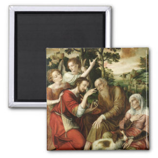 Tobias Curing his Father's Blindness, 1563 2 Inch Square Magnet