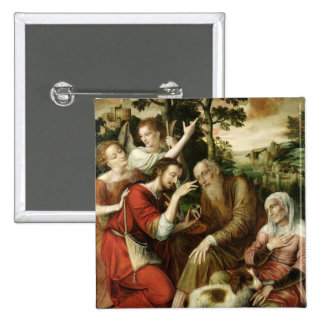 Tobias Curing his Father's Blindness, 1563 Pinback Button