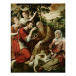 Tobias que cura la ceguera de su padre, 1563 poster