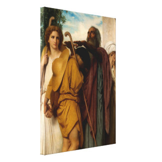 Tobias Saying Farewell to His Father by Bouguereau Gallery Wrapped Canvas