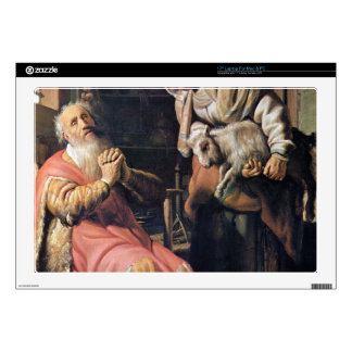 Tobias suspected his wife of theft by Rembrandt Laptop Skin