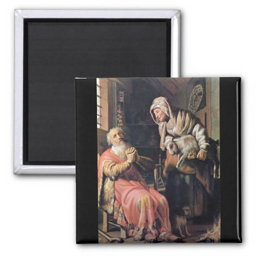 Tobias suspected his wife of theft by Rembrandt Refrigerator Magnet
