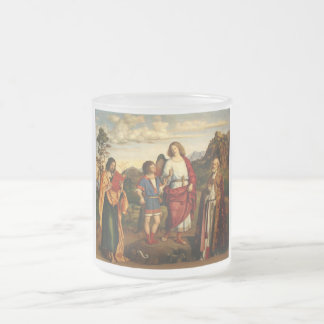 Tobias with the Archangel and Two Saints 10 Oz Frosted Glass Coffee Mug
