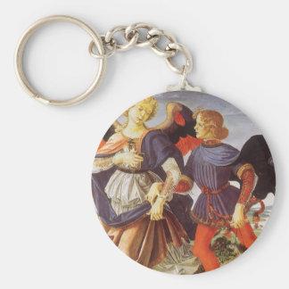 Tobias y el ángel de Andrea del Verrocchio Llavero Redondo Tipo Pin