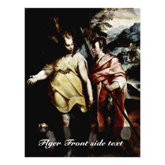 """Tobias y el ángel de Motta Raffaello Folleto 8.5"""" X 11"""""""