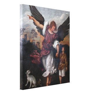 Tobias y Raphael del arcángel - Titian Lienzo Envuelto Para Galerias