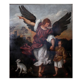 Tobias y Raphael del arcángel - Titian Posters