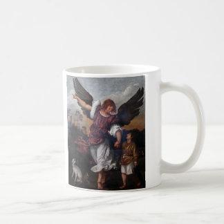 Tobias y Raphael del arcángel - Titian Taza De Café