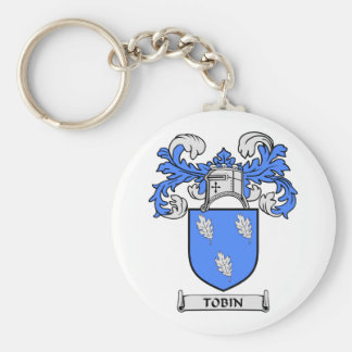 TOBIN Coat of Arms Basic Round Button Keychain