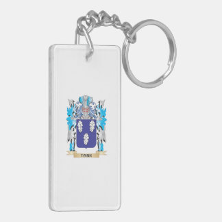 Tobin Coat of Arms - Family Crest Double-Sided Rectangular Acrylic Keychain