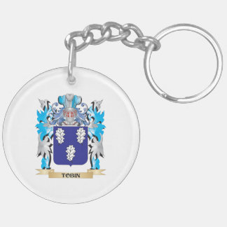 Tobin Coat of Arms - Family Crest Double-Sided Round Acrylic Keychain