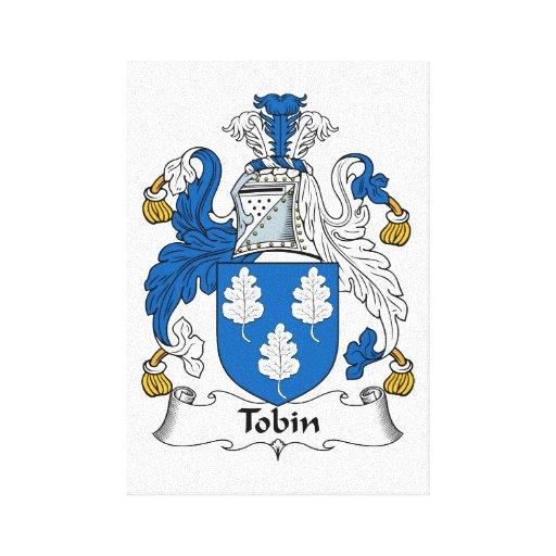 Tobin Family Crest Canvas Prints