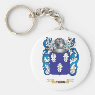 Tobin Family Crest (Coat of Arms) Basic Round Button Keychain