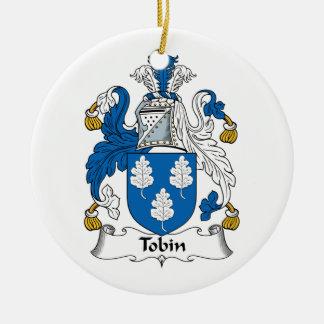 Tobin Family Crest Christmas Tree Ornament