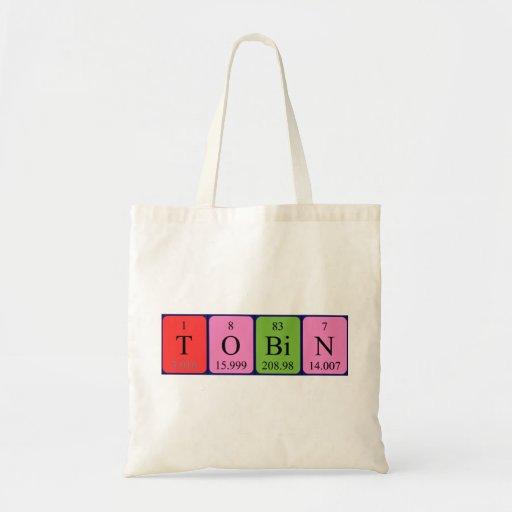 Tobin periodic table name tote bag