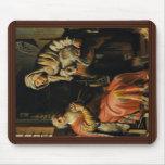 Tobit y Ana con el niño Bokje de Rembrandt Van Tapetes De Ratón